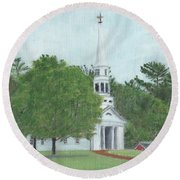 Martha Mary Chapel Round Beach Towel by Cliff Wilson