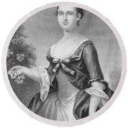 Martha Washington (1732-1801) Round Beach Towel