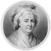 Martha Washington (1732-1802) Round Beach Towel
