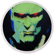 Martian Manhunter - A Close Encounter Round Beach Towel
