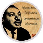 Martin Luther King Jr 1 Round Beach Towel