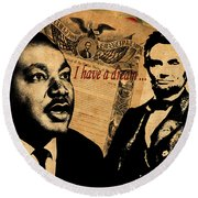 Martin Luther King Jr 2 Round Beach Towel