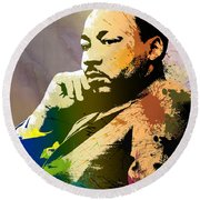 Martin Luther King Jr.  Round Beach Towel