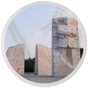 Martin Luther King Jr Memorial  Round Beach Towel