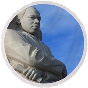 Martin Luther King Jr Monument Detail Round Beach Towel