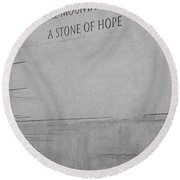 Martin Luther King Jr Quote Detail Round Beach Towel
