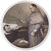 Martin Rithone Blessing The Body Of The Count Of Egmont Wc On Paper Round Beach Towel