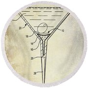 Martini Glass Patent Drawing Round Beach Towel