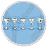 Martini Lunch Round Beach Towel
