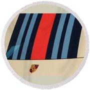 Martini Porsche Round Beach Towel