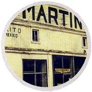 Martins General Store Round Beach Towel