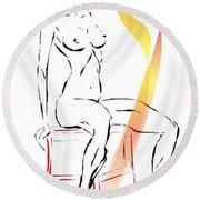 Marucii 108-02-13 Women Round Beach Towel