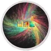 Marucii 237-03-13 Abstraction Round Beach Towel