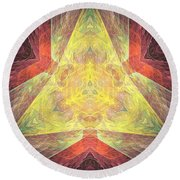 Marucii 238-03-13 Abstraction Round Beach Towel