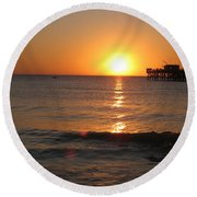 Marvelous Gulfcoast Sunset Round Beach Towel