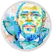 Marvin Gaye - Portrait Round Beach Towel
