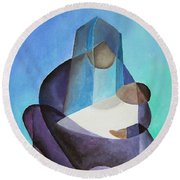 Mary And Messiah Round Beach Towel