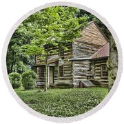 Mary Dells House Round Beach Towel by Heather Applegate