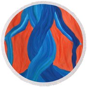 Mary - Mother Of Earth - Mother Of Light Round Beach Towel