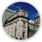 Mary Queen Of The World Cathedral Montreal Round Beach Towel
