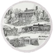 Mary Washington College Round Beach Towel