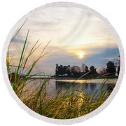 Maryland Morning Round Beach Towel