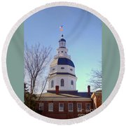 Maryland State House Dome Round Beach Towel
