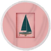 Marylnn Monroe Round Beach Towel