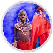 Masai Round Beach Towel