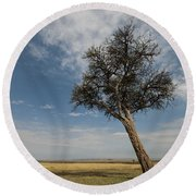 Masai Mara National Reserve Round Beach Towel