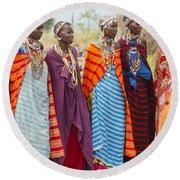 Masai Women Kenya Round Beach Towel