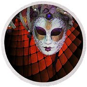 Mask 1 Round Beach Towel