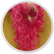 Mask Pastel Chalk 1 Round Beach Towel