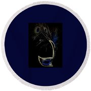 Mask Series 13 Round Beach Towel