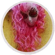 Mask Water Color 1 Round Beach Towel