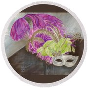 Mask Round Beach Towel