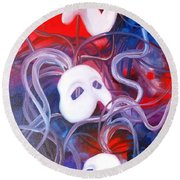 Masks 4 Round Beach Towel