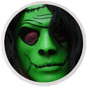 Masks Fright Night 4 Round Beach Towel