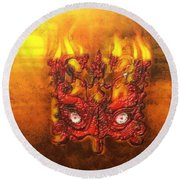 Masque Of The Red Death Round Beach Towel