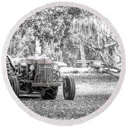 Massey Ferguson Tractor Round Beach Towel