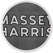 Massey Harris Round Beach Towel
