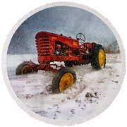 Massey Harris Mustang Round Beach Towel