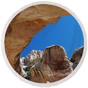 Massive Arch 1 Round Beach Towel
