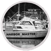 Master Of The Harbor Round Beach Towel by Melinda Ledsome