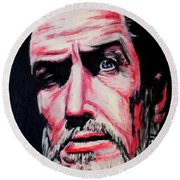 Master Of The Macabre-vincent Price  Round Beach Towel