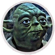 Master Yoda Round Beach Towel