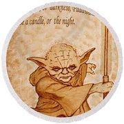 Master Yoda Wisdom Round Beach Towel