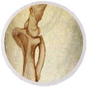 Mastodon Leg Bones Round Beach Towel