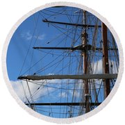 Masts Round Beach Towel