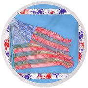 Matalic Flag Round Beach Towel